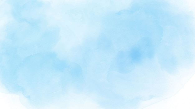 Abstracte handgeschilderde aquarel hemel en wolken voor achtergrond.