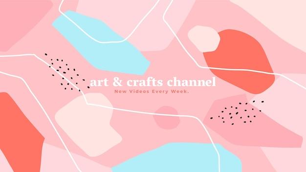 Abstracte handgetekende ambachtelijke youtube kanaalart