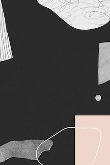 Abstracte handgetekende lijn en textuurachtergrond