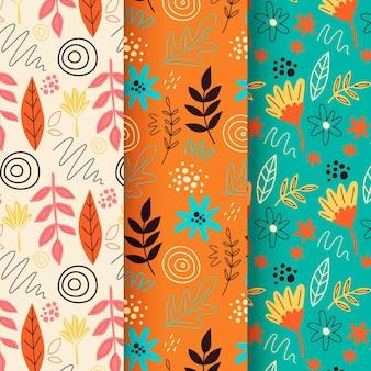 Abstracte handgetekende patroon collectie