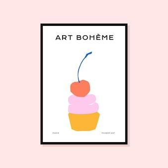 Abstracte handgetekende poster perfect voor kunstcollectie aan de muur