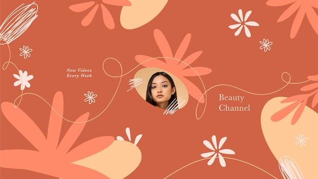 Abstracte handgetekende schoonheid youtube kanaalart