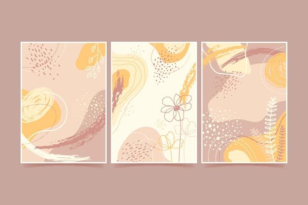 Abstracte handgetekende vormen covers