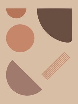 Abstracte hedendaagse esthetische achtergrond. minimalistische kunstafdruk.