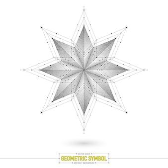 Abstracte heilige symbool vector achtergrond