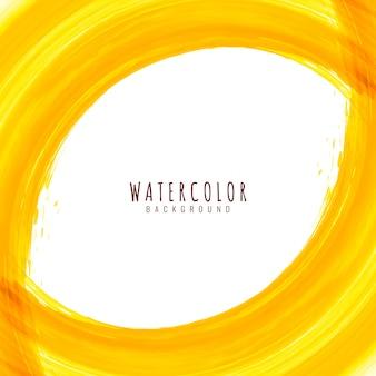Abstracte helder gele aquarel elegante achtergrond