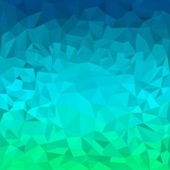 Abstracte heldere blauwe en groene bont gekleurde veelhoekige driehoekige achtergrond voor gebruik in ontwerp voor kaart, uitnodiging, poster, spandoek, plakkaat of billboard dekking