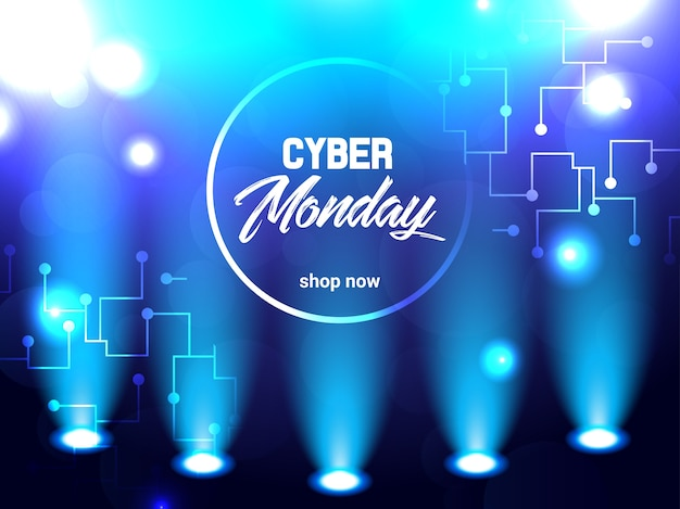 Abstracte heldere elektrische illustratie voor cybermaandag