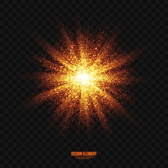 Abstracte heldere explosieeffect transparante vector