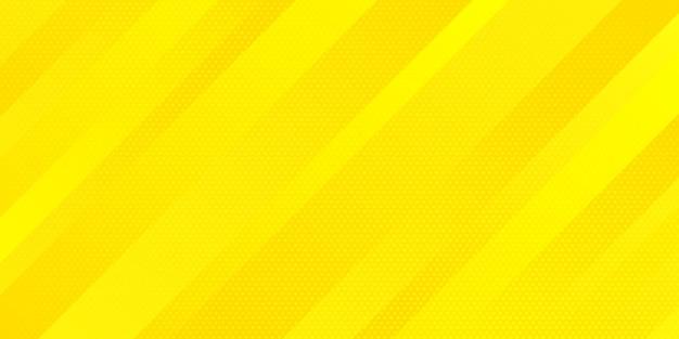 Abstracte heldere gele gradiëntkleur en halftone stijl van de puntentextuur met schuine lijnenstrepenachtergrond.