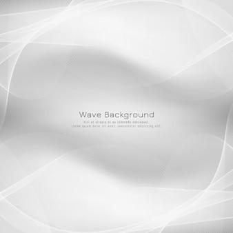 Abstracte heldere grijze golf vector achtergrond