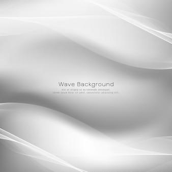 Abstracte heldere grijze golf vectorachtergrond