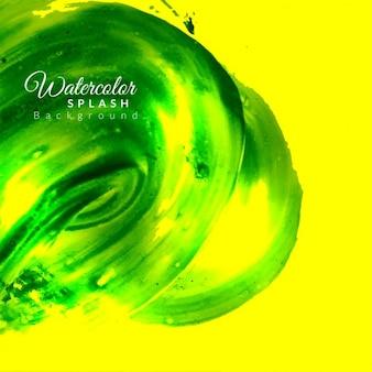 Abstracte heldere groene aquarel achtergrond ontwerp