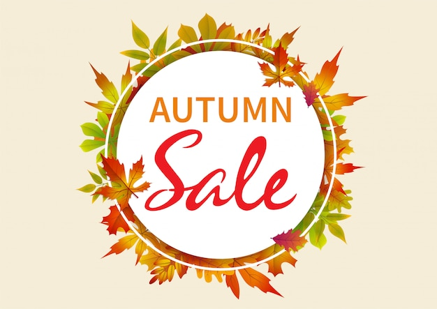 Abstracte herfst verkoop banner