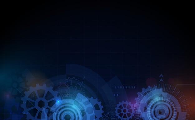 Abstracte het conceptenachtergrond van technologie digitale hallo technologie