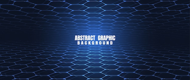 Abstracte het patroonachtergrond van technologie blauwe zeshoeken