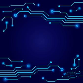 Abstracte hi-tech blauwe printplaat achtergrond