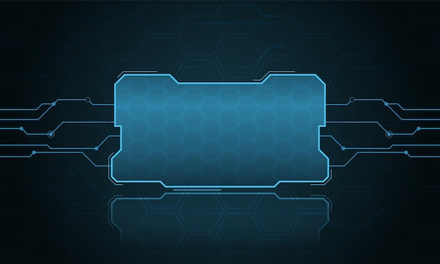 Abstracte hifi digitale futuristische frame vector technologie sjabloon illustratie