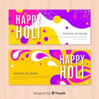Abstracte holi festival banner