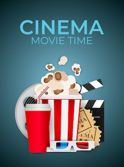 Abstracte home cinema achtergrond. illustratie