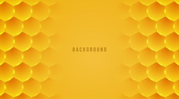 Abstracte honing zeshoek achtergrond