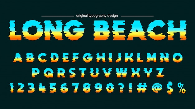 Abstracte horizon vette typografie