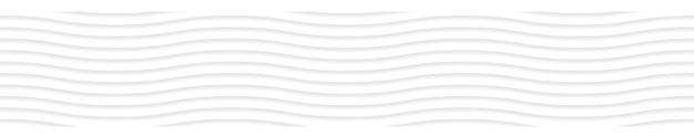 Abstracte horizontale banner van golvende lijnen met schaduwen in witte en grijze kleuren