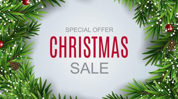 Abstracte illustratie kerst sale, speciale aanbieding