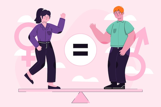 Abstracte illustratie van gendergelijkheid concept