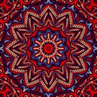 Abstracte indiase patroon met mandala. vintage mooie achtergrond