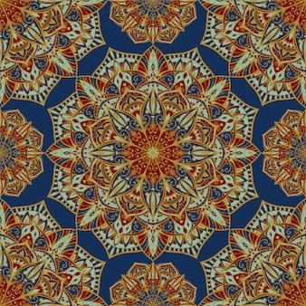 Abstracte indiase patroon met mandala.