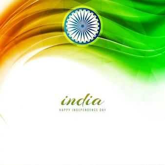 Abstracte indische de vlagachtergrond van de onafhankelijkheidsdag