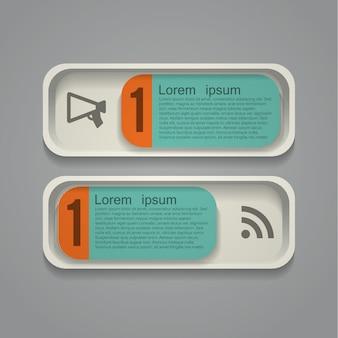 Abstracte infographic achtergrond met pictogrammen en plaats voor tekst. vector illustratie, eps10, bevat transparanten.