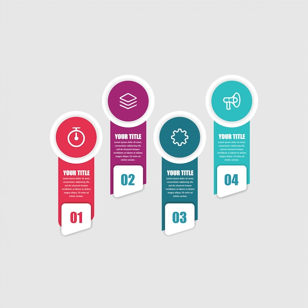 Abstracte infographic element marketing pictogrammen