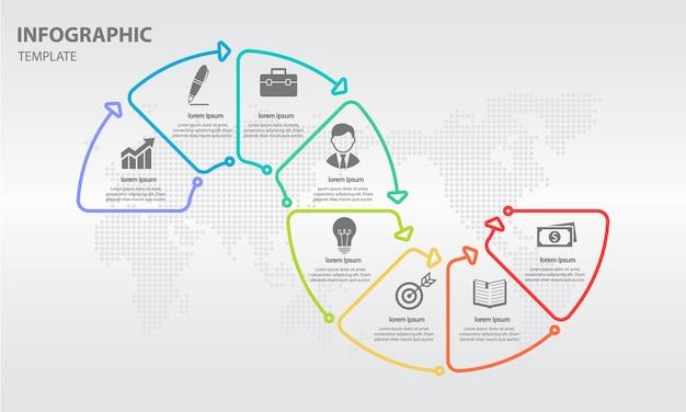 Abstracte infographic tijdlijn