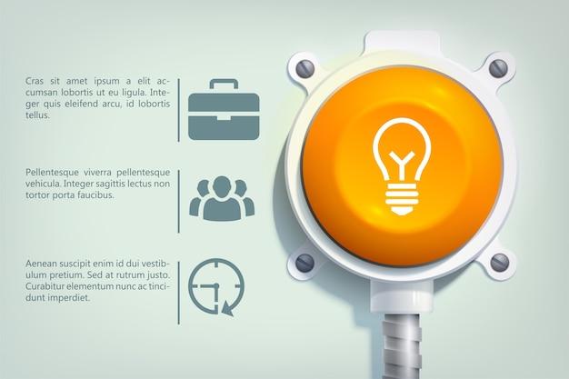 Abstracte infographic websjabloon met drie stappen