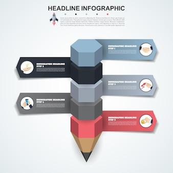 Abstracte infographics nummer opties sjabloon. vector illustratie. kan worden gebruikt voor workflowlay-out, diagram, zakelijke stapopties, banner, webdesign.