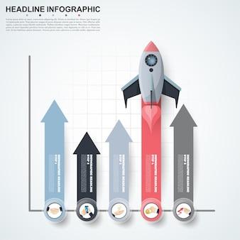 Abstracte infographics nummer opties sjabloon.
