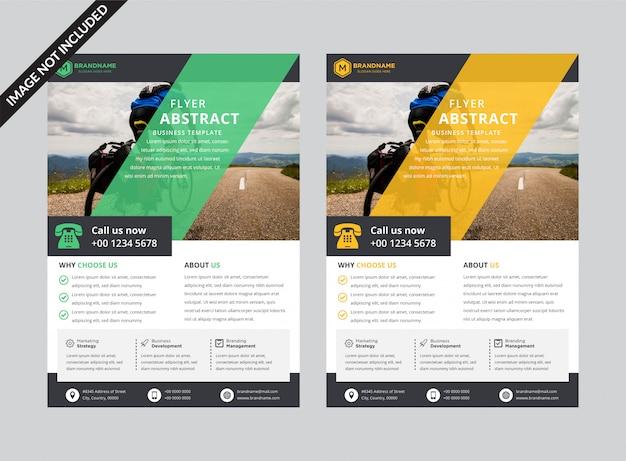 Abstracte informatieve poster sjabloon