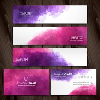Abstracte inkt stijl briefpapier vector design