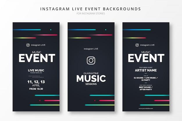 Abstracte instagram live evenementachtergronden voor insta-verhalen
