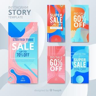 Abstracte instagram verkoop verhaal collectie