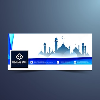 Abstracte islamitische facebook-tijdlijnontwerp