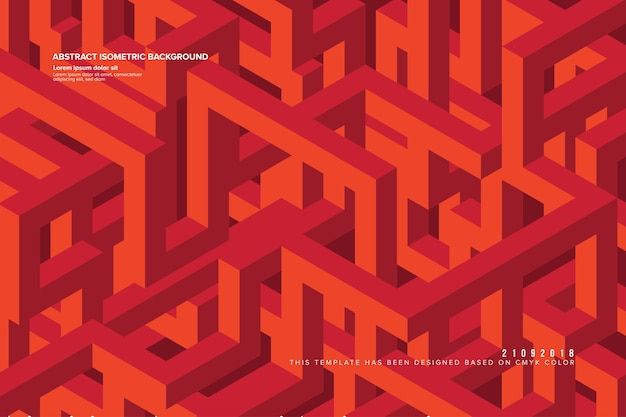 Abstracte isometrische achtergrond in vector