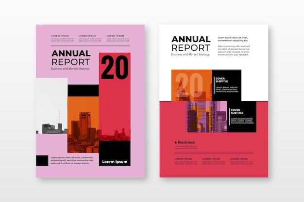 Abstracte jaarverslag sjablonen collectie