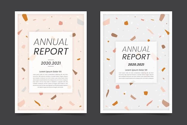 Abstracte jaarverslag sjablonen set