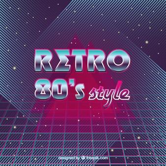 Abstracte jaren tachtig retro achtergrond
