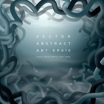 Abstracte kaderachtergrond. bannerontwerpsjabloon met de stroom van donkere bewegende vormen