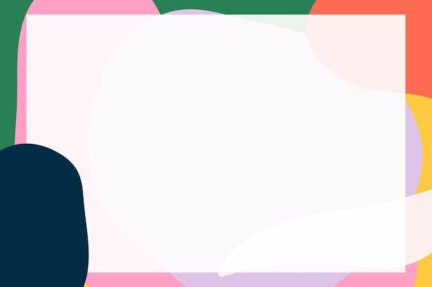 Abstracte kadervector in kleurrijke moderne memphis-stijl