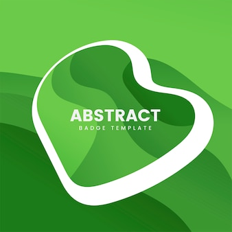 Abstracte kentekensjabloon in groen